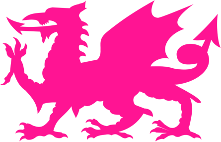 The Welsh Dragon, a heraldic symbol that appears on the national flag of Wales.